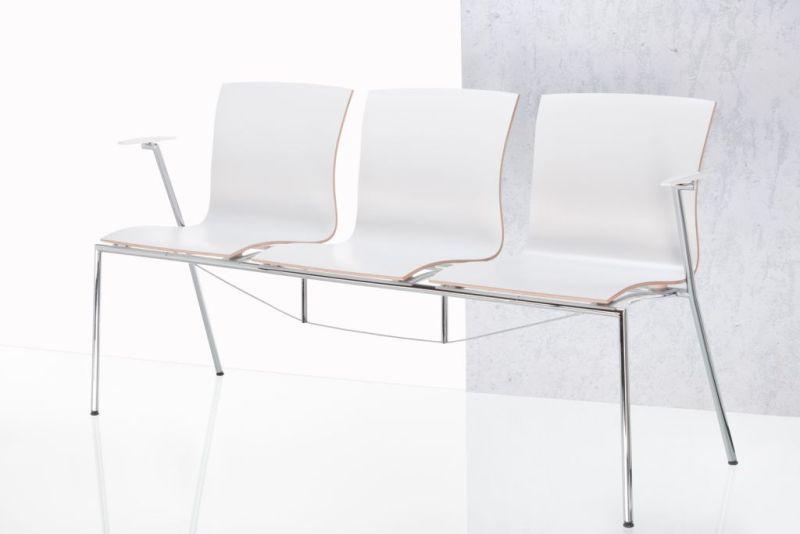 Sitzreihe weiß
